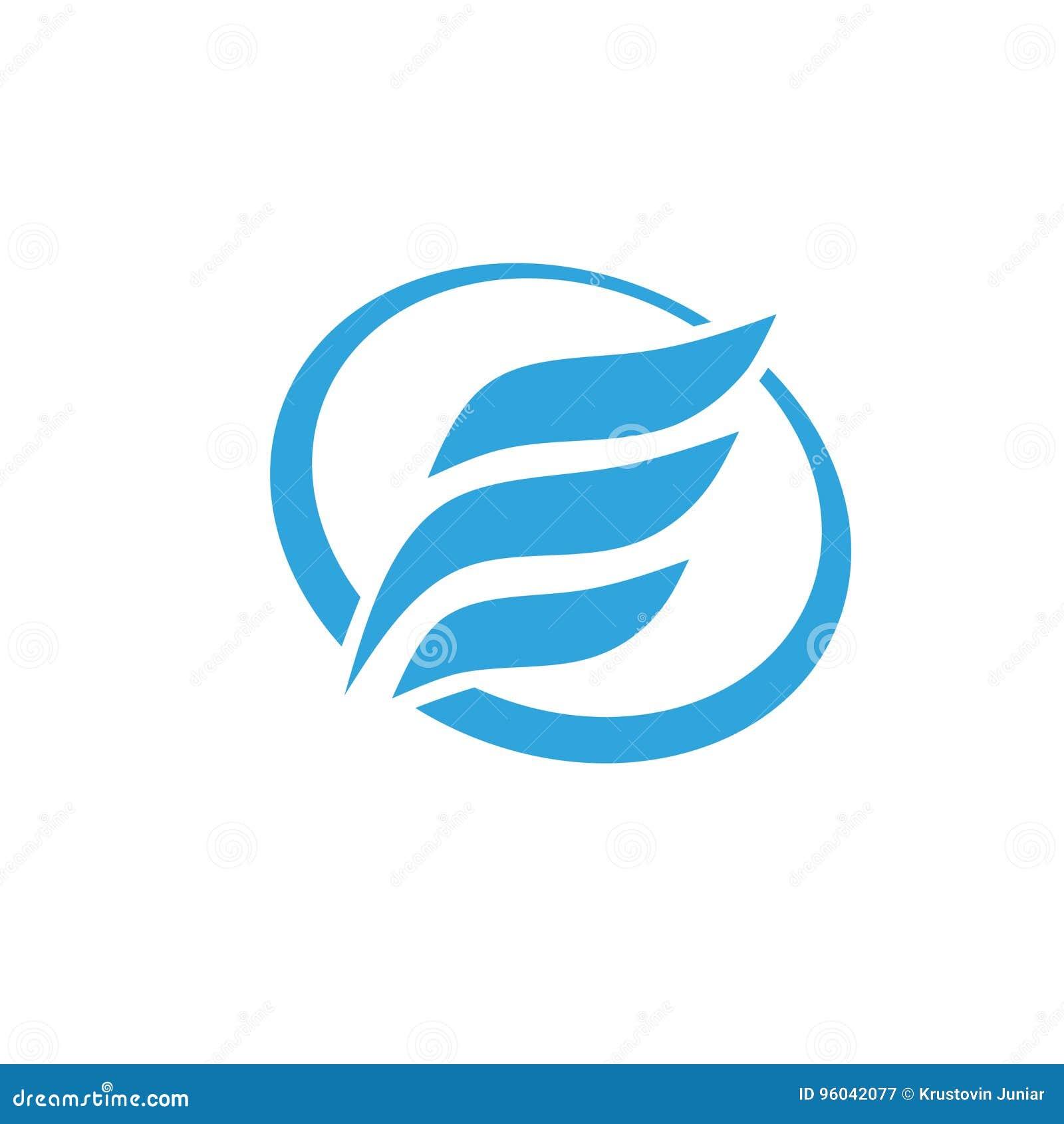 Letra E con el logotipo del círculo