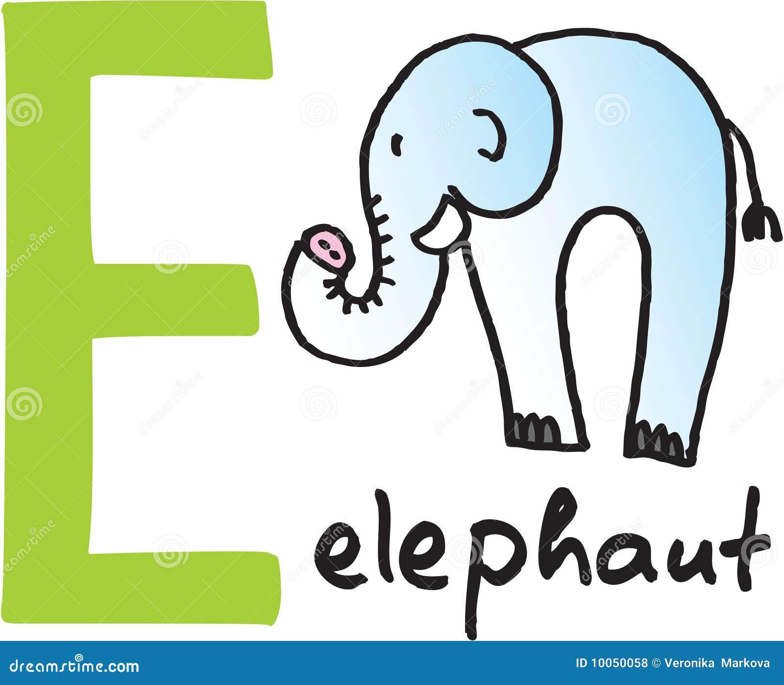 Letra E - elefante