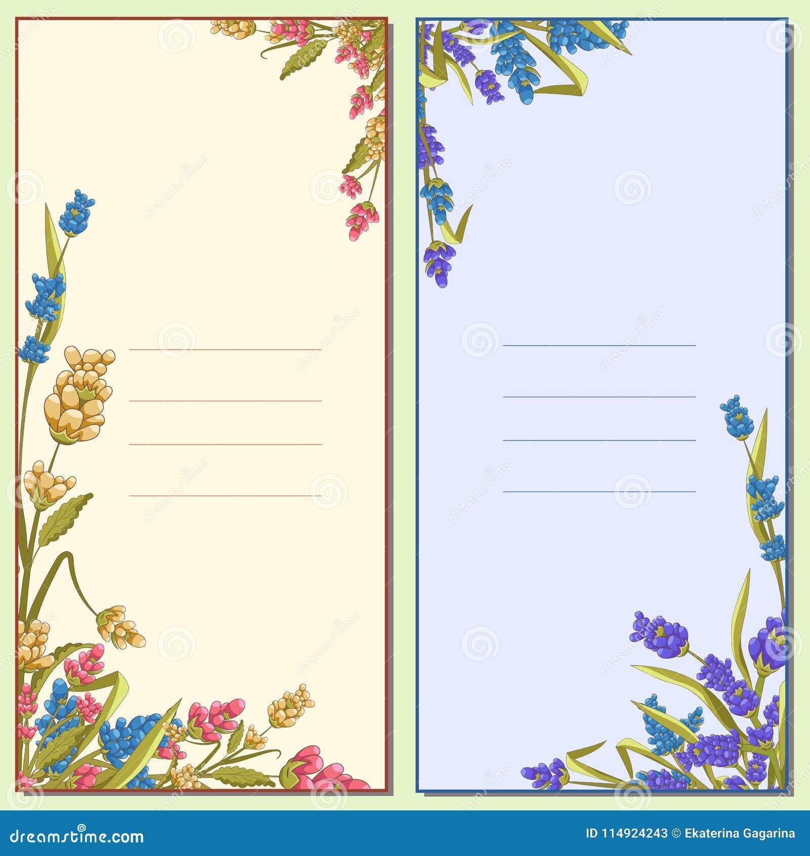 Letra Floral De Invitación Tarjeta Cartel Ilustración Del