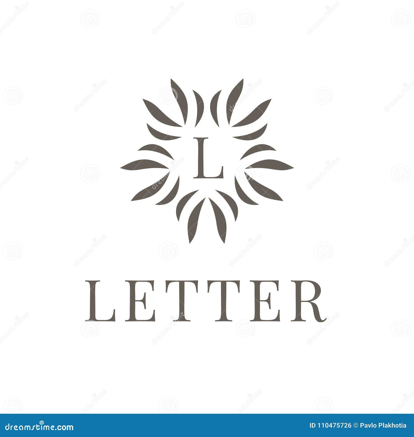 Letra L Elemento De La Plantilla Del Diseño Del Icono Del Logotipo ...