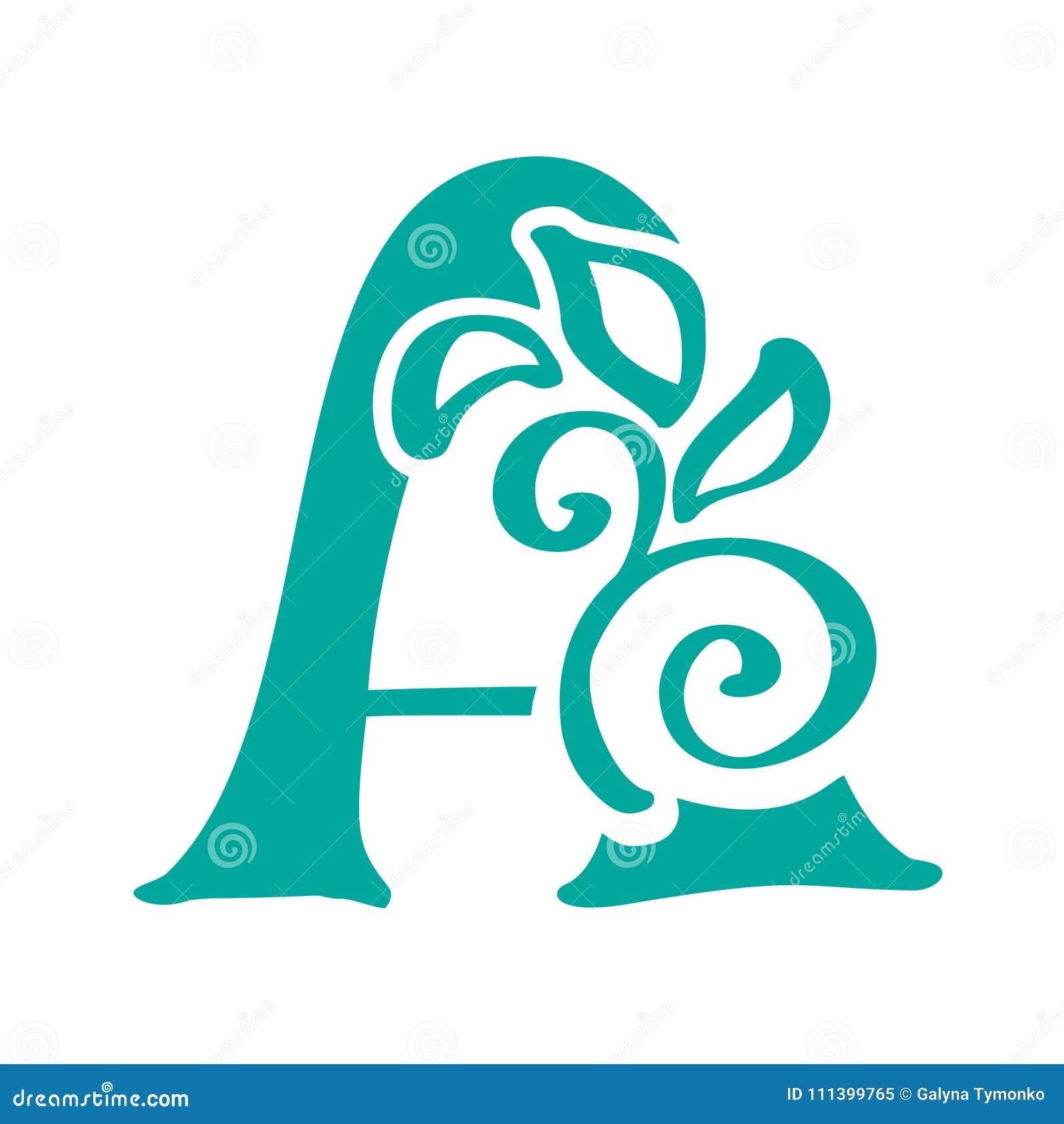 Letra Los Elementos De La Plantilla Del Diseño Del Icono Del ...