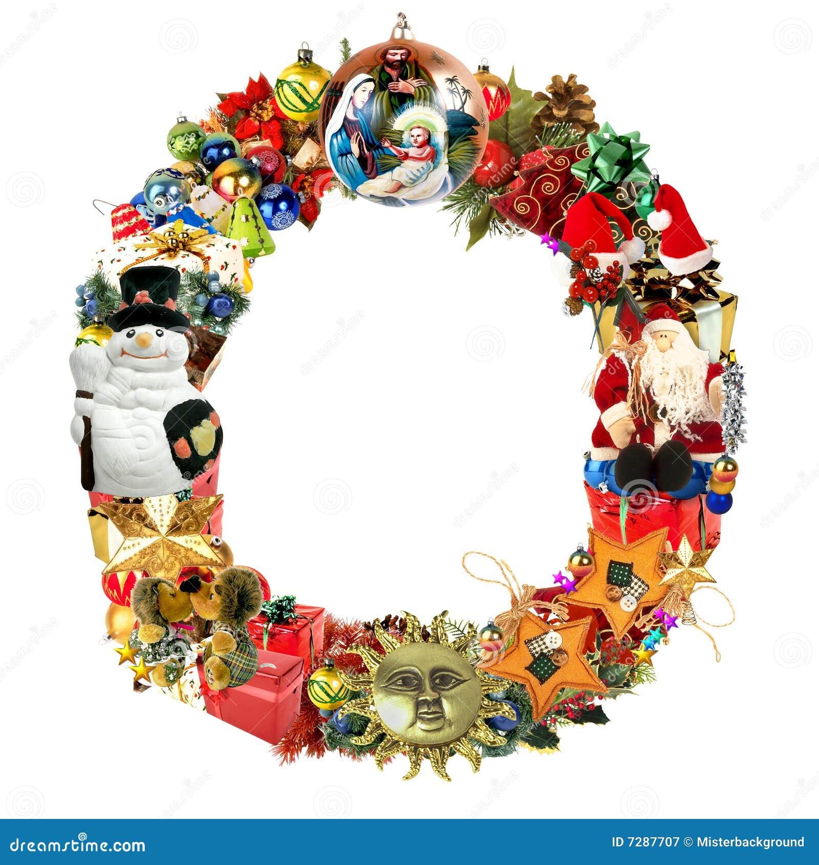 Letra O, para la decoración de la Navidad