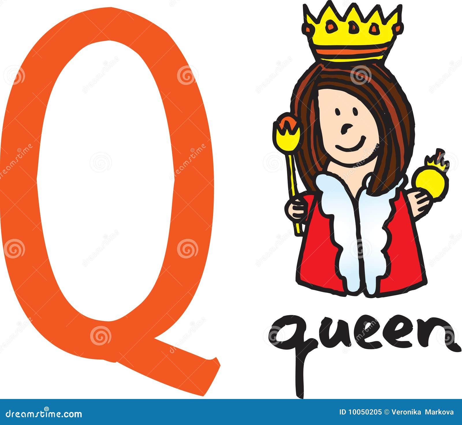 Letra Q - rainha