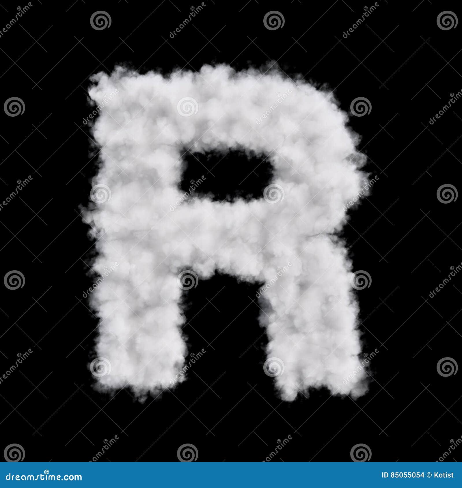 Letra R de la nube