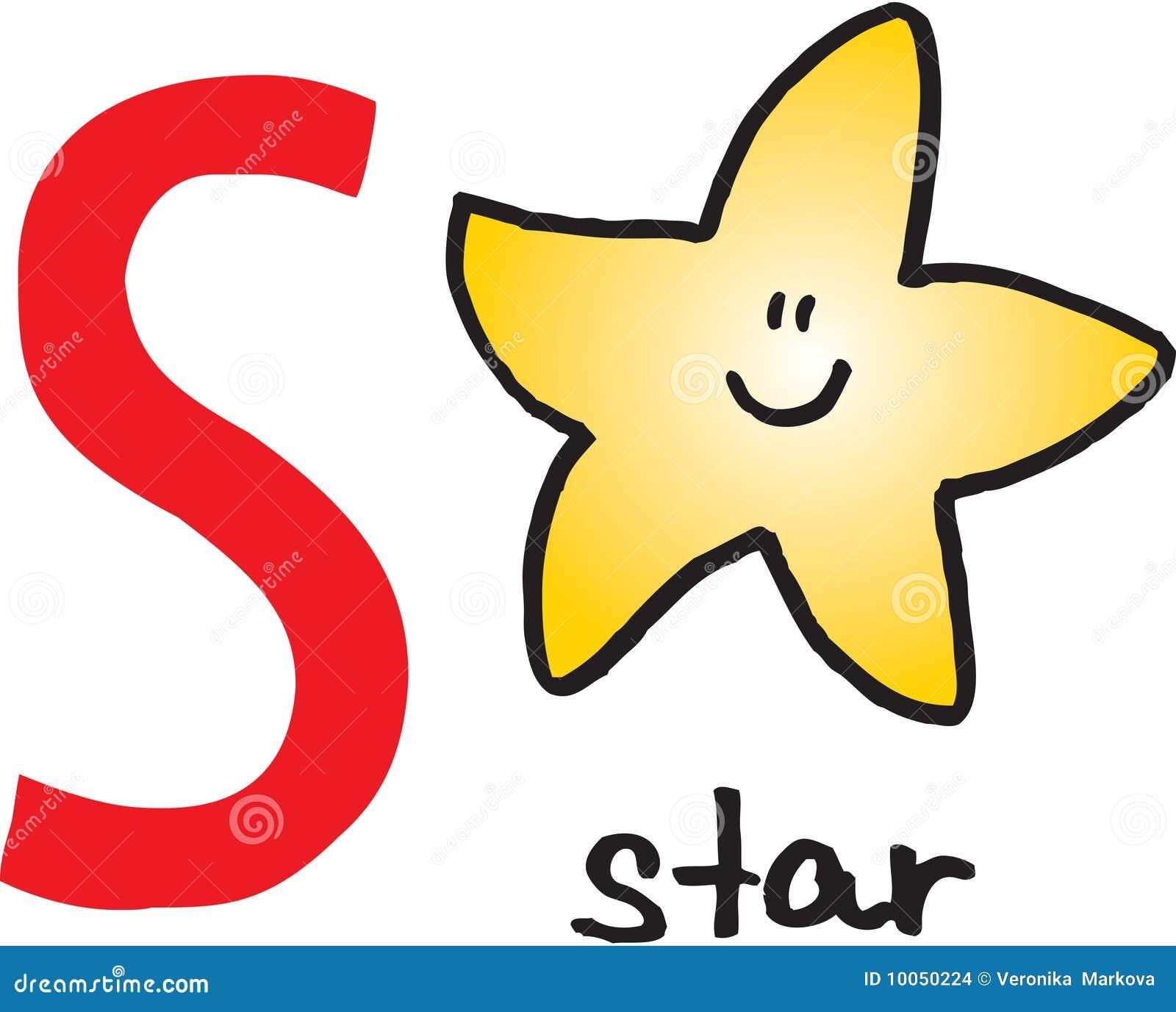 Letra S - estrela