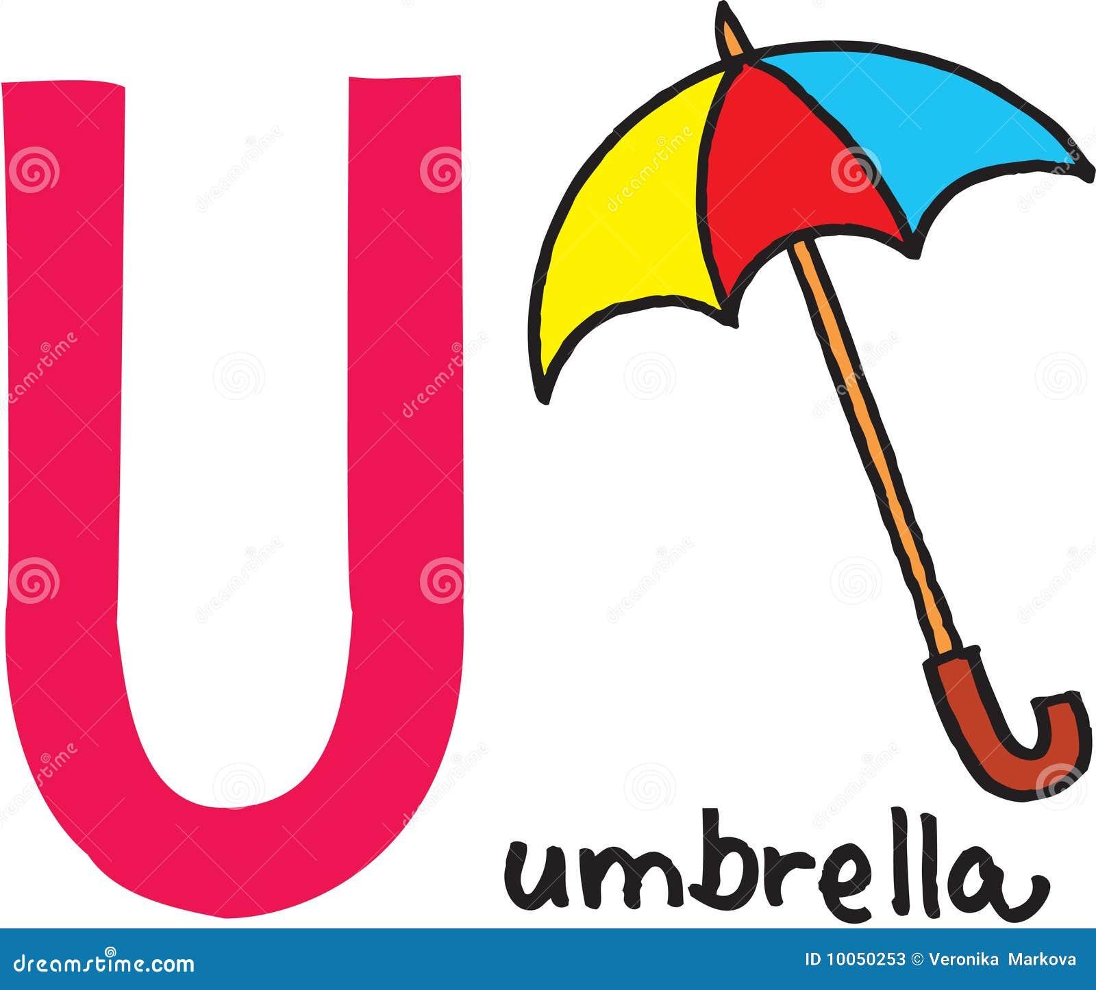 Letra U - guarda-chuva