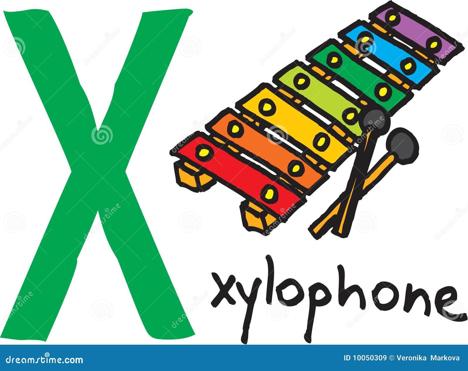 Letra X - xylophone