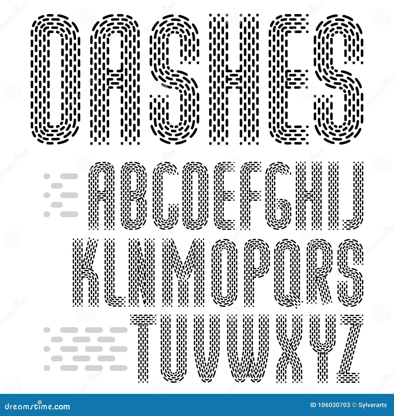 Letras capitales condensadas enrrolladas del alfabeto inglés del vector