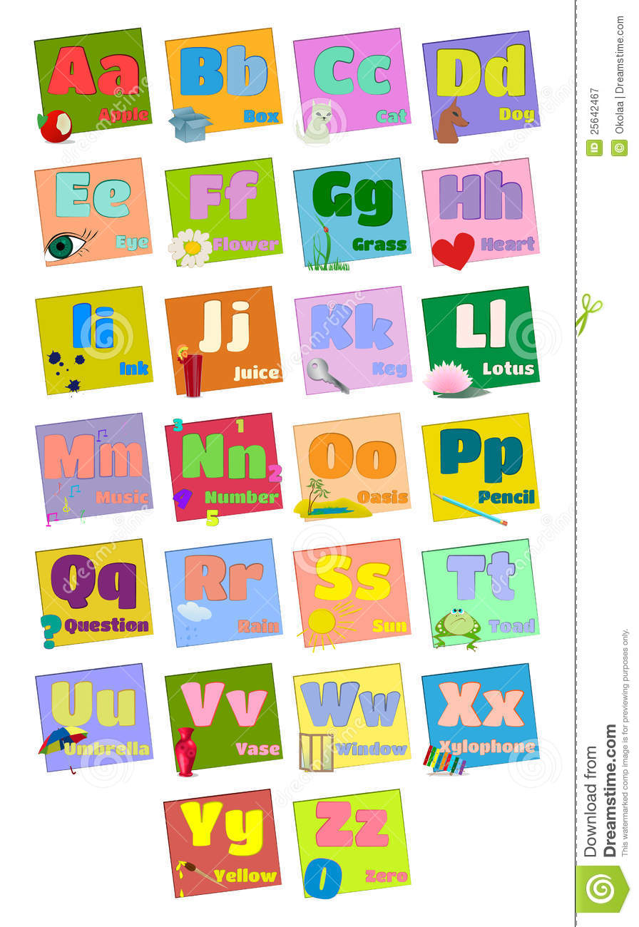French Letters With Words