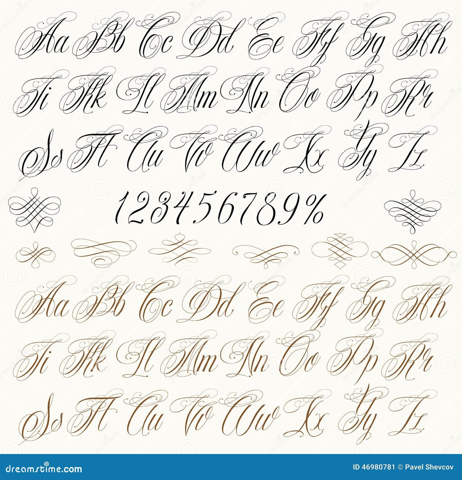 Letras Da Tatuagem Ilustracao Do Vetor Ilustracao De Handwritten