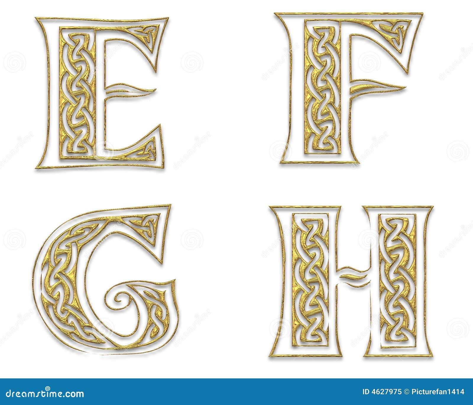 Letras de capital douradas 2