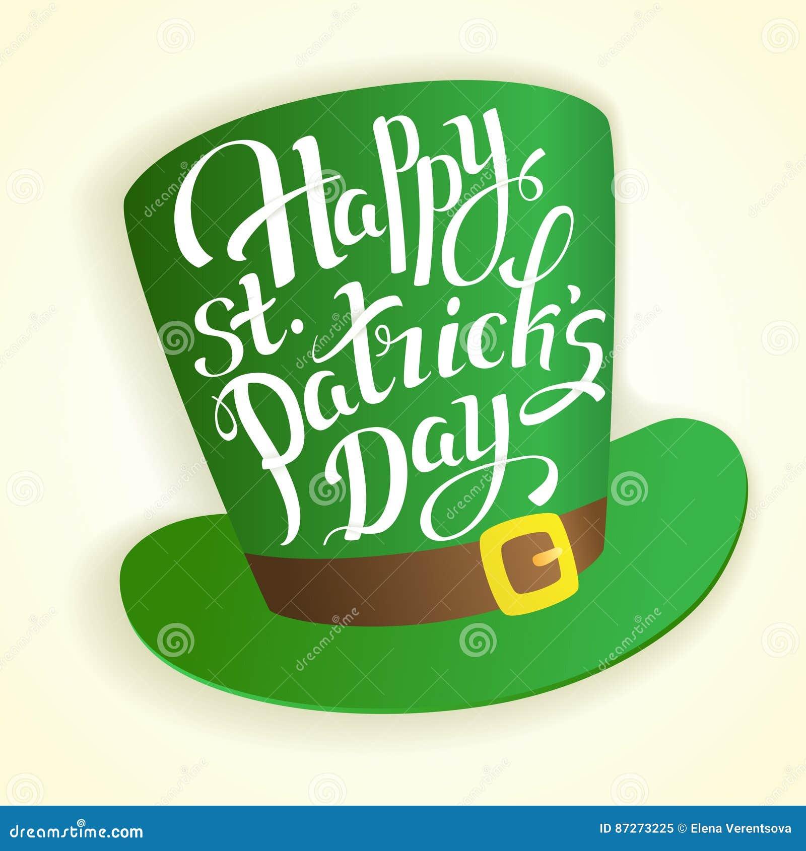 Letras De Día Felices Del S De St Patrick Con El Cilindro