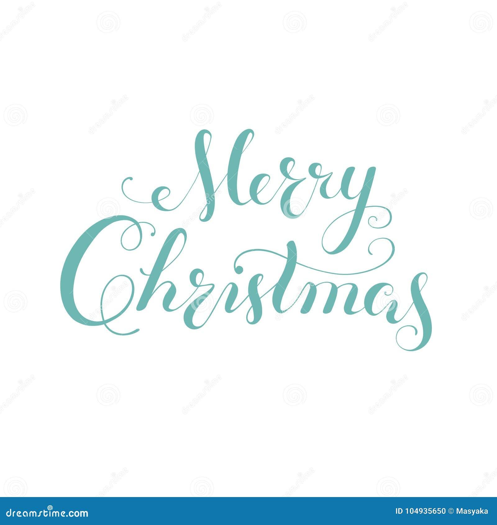 Letras De La Caligrafía De La Feliz Navidad Tipografía Creativa De ...