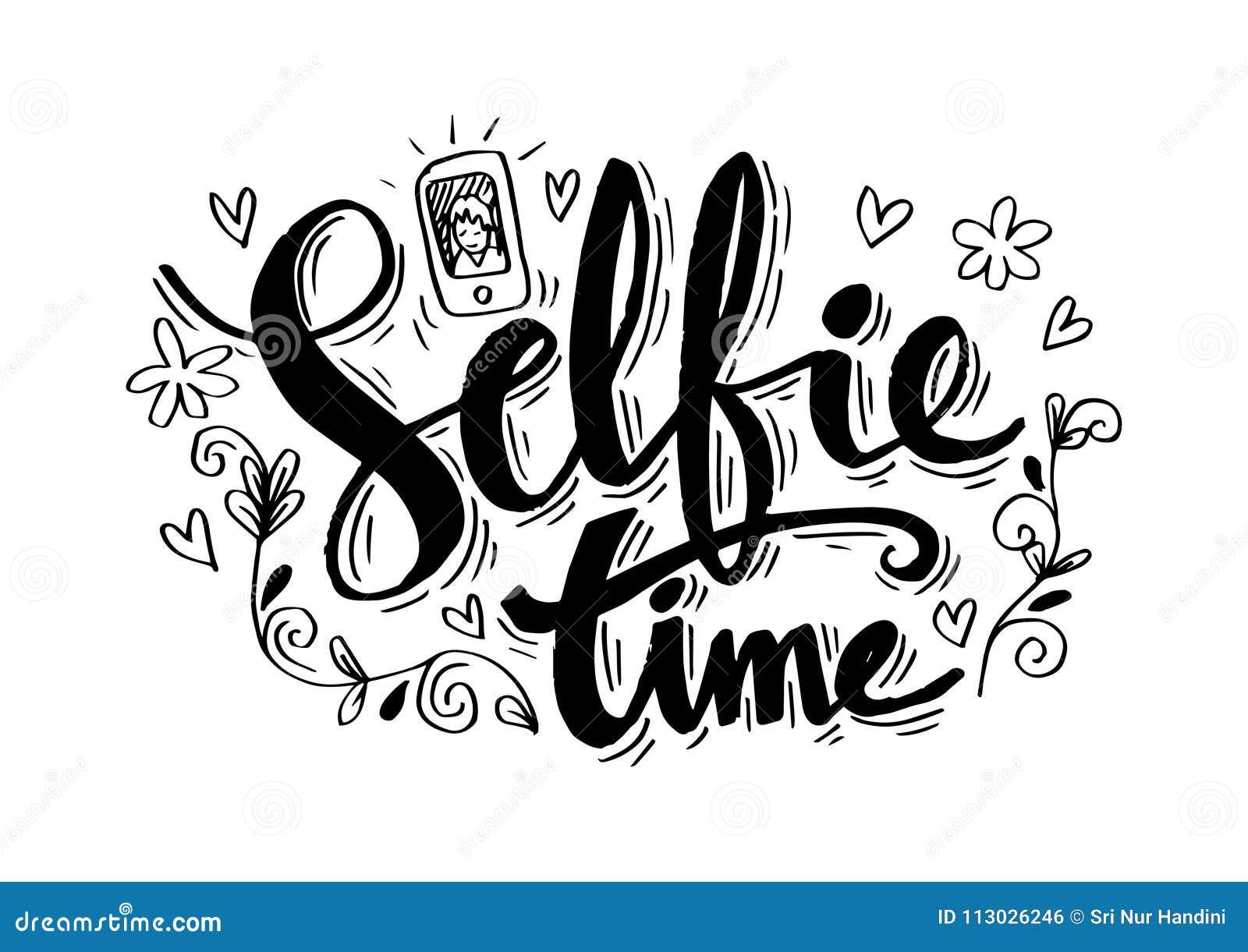 Letras de la mano de Selfie