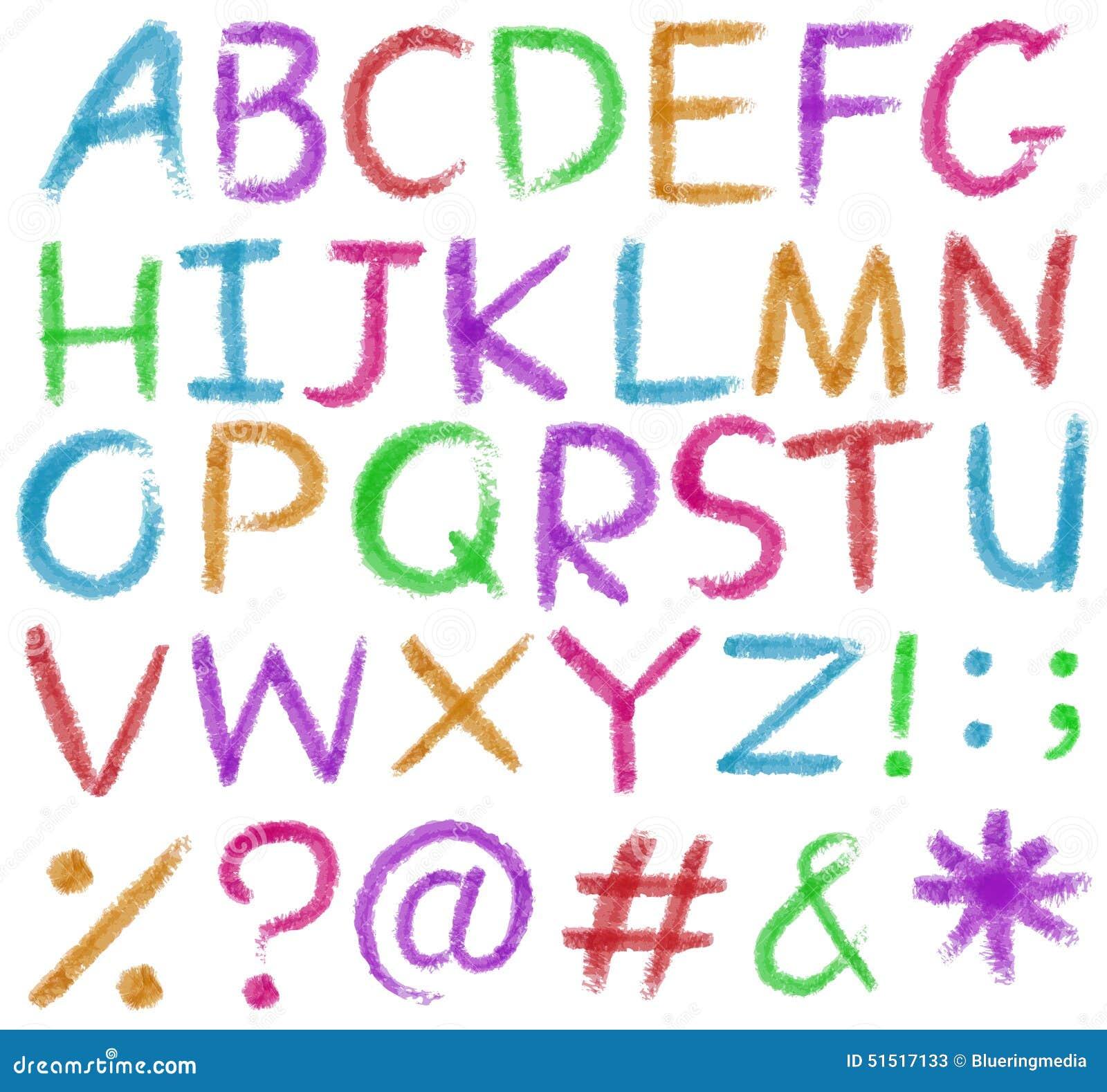 Letras Del Alfabeto En Colores Brillantes Ilustración del Vector ...