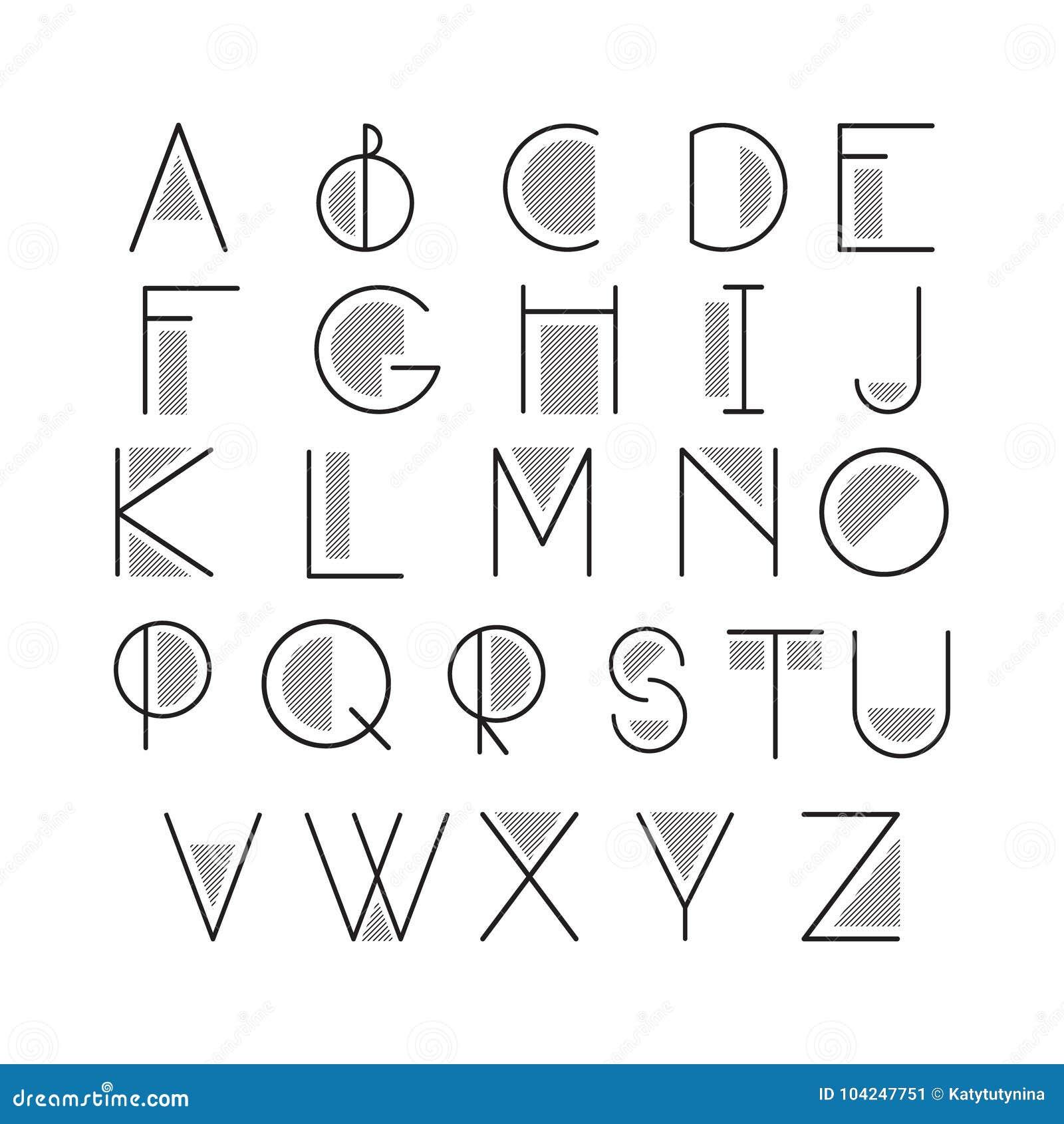 Letras del alfabeto latino ilustración del vector. Ilustración de ...