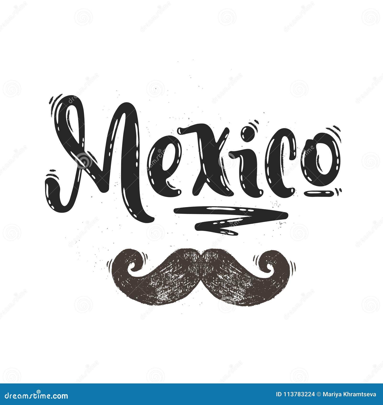 Letras del vector de México