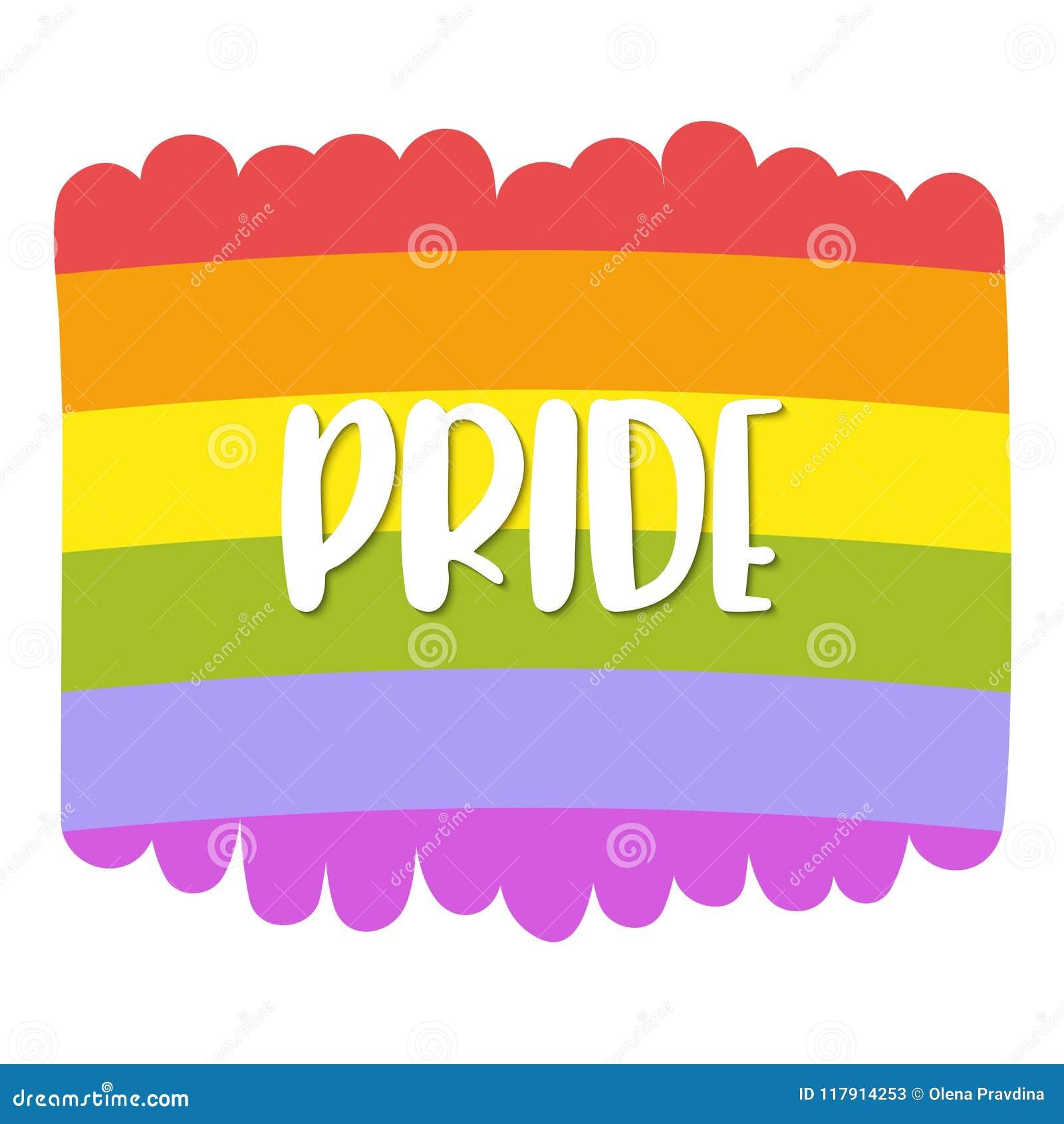Letras en una bandera del arco iris, emblema del orgullo gay de la homosexualidad