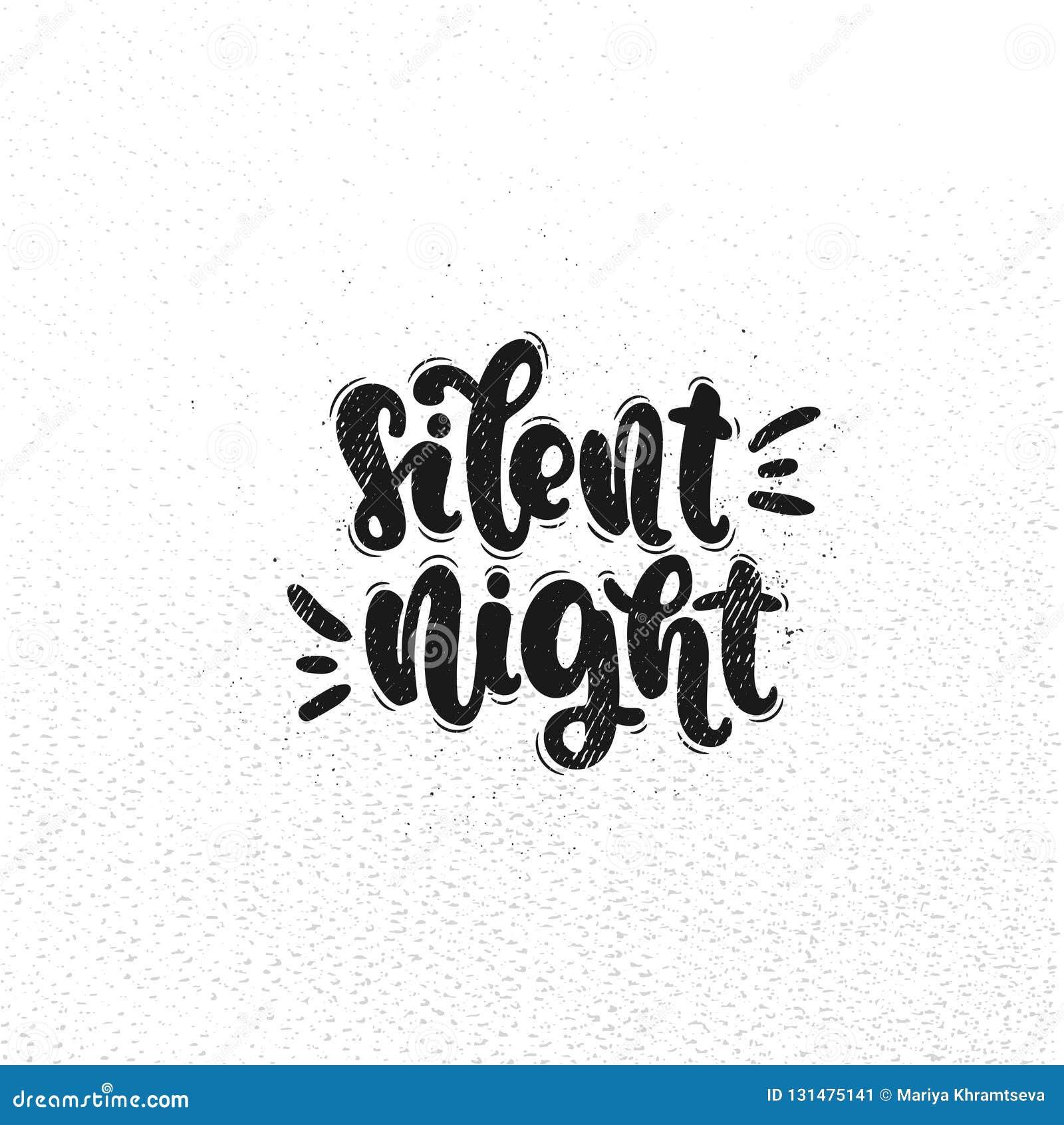 Letras Silenciosas Del Vector De La Noche Ilustración Del