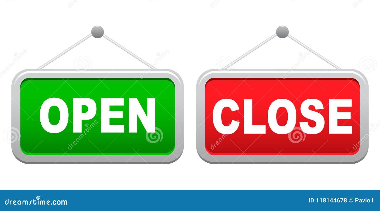 Letrero De Open: Vector Ilustración Del Vector