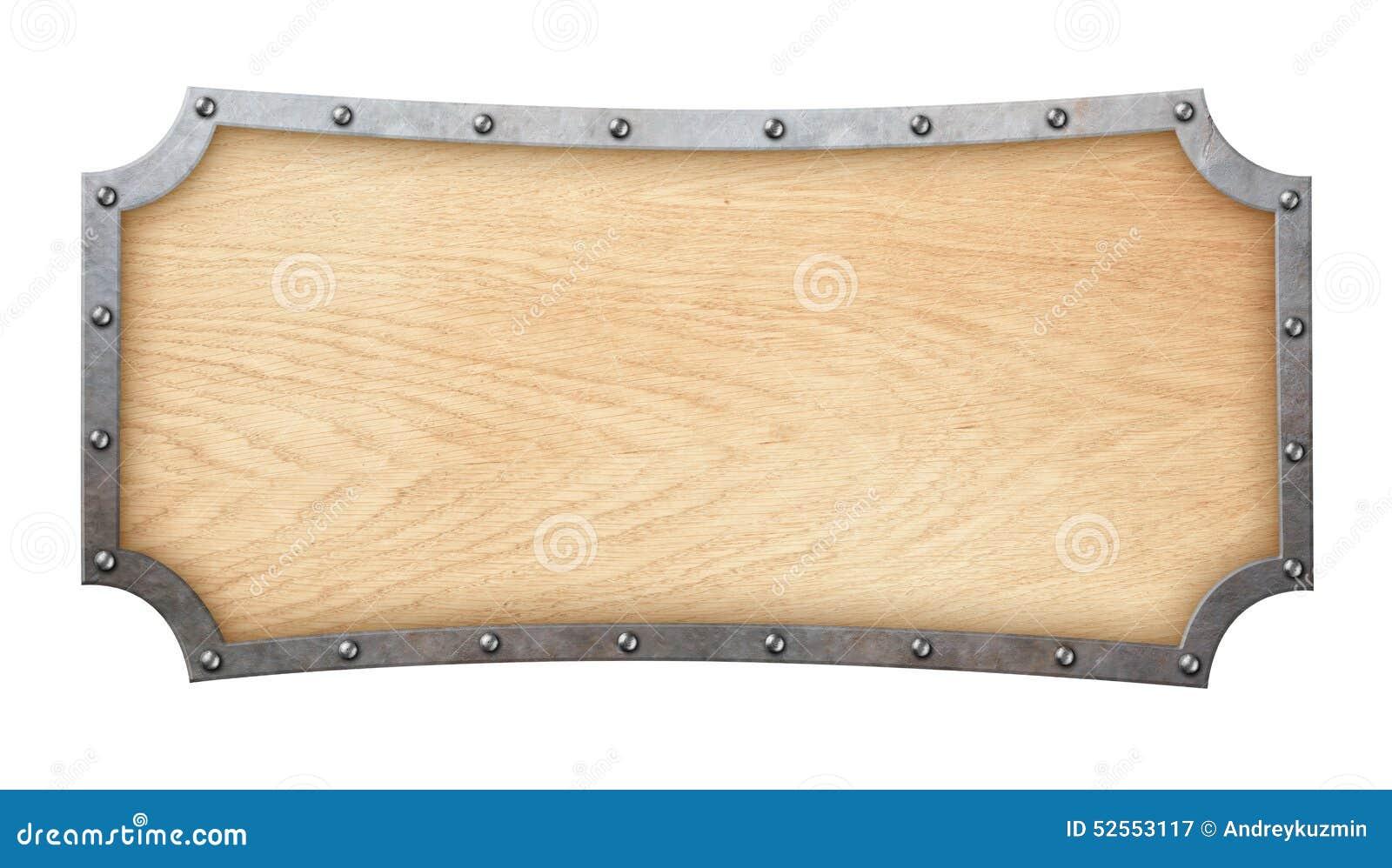 Letrero de madera con el marco forjado aislado en blanco - Letreros en madera ...