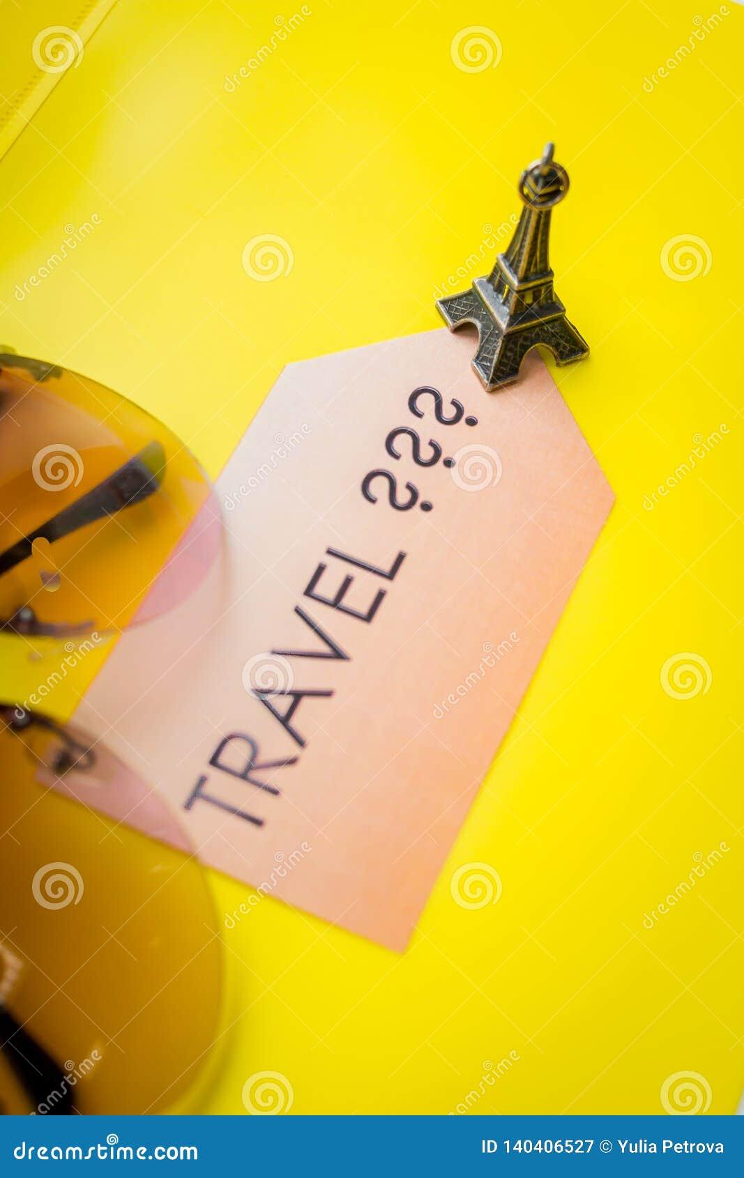 Lets aller voyager idée, concept de motivation d aventure, vacances détendent Bienvenue vers la France Point de repère de voyage