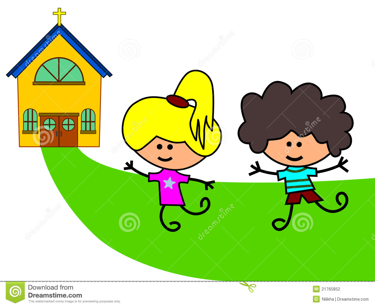 Family Going To Church Clipart