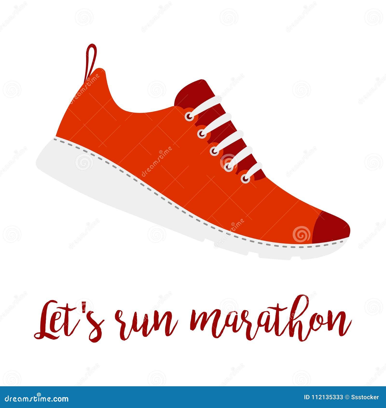 7cf836f119d7 Lets Run Marathon Style Shoe Stock Vector - Illustration of legs ...