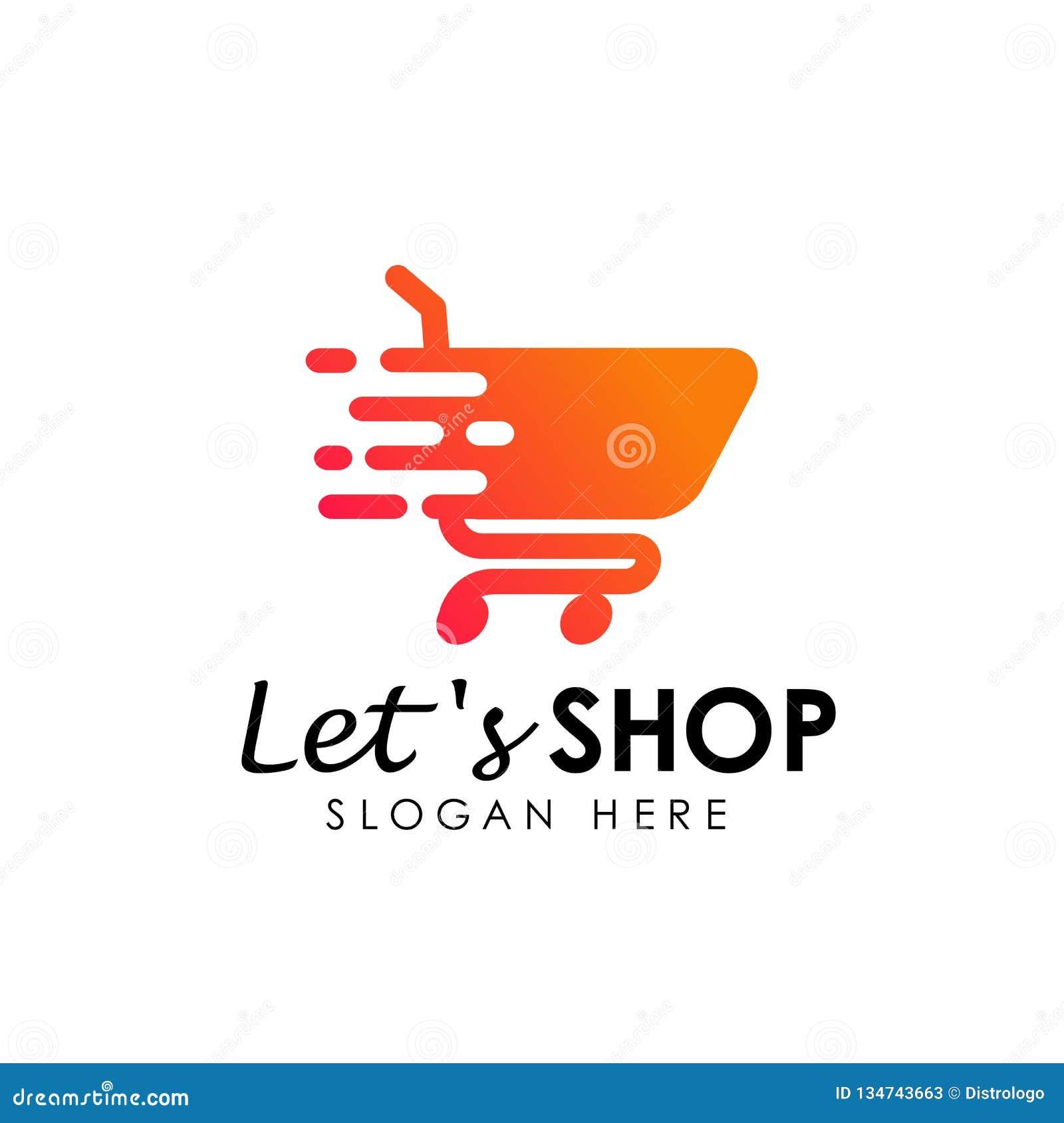 Lets Shopping Logo Design Template . Shopping Cart Icon