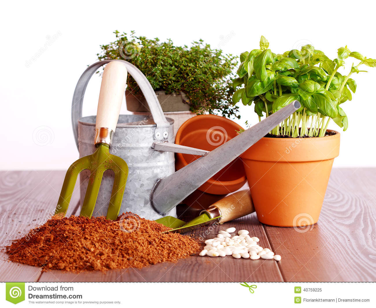 Lets Start Gardening Stock Image. Image Of Country