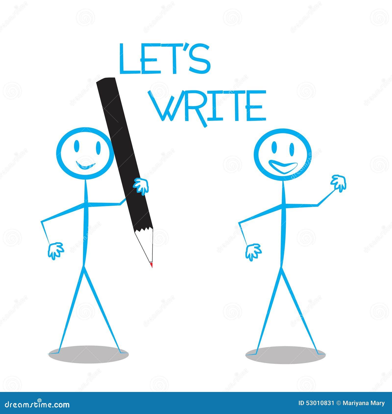 Premise Indicator Words: Lets Write Stock Vector. Illustration Of Modern, Promotion