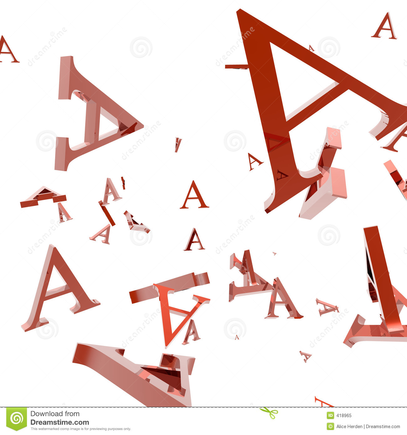 Letter A Royalty Free Stock Photo Image 418965