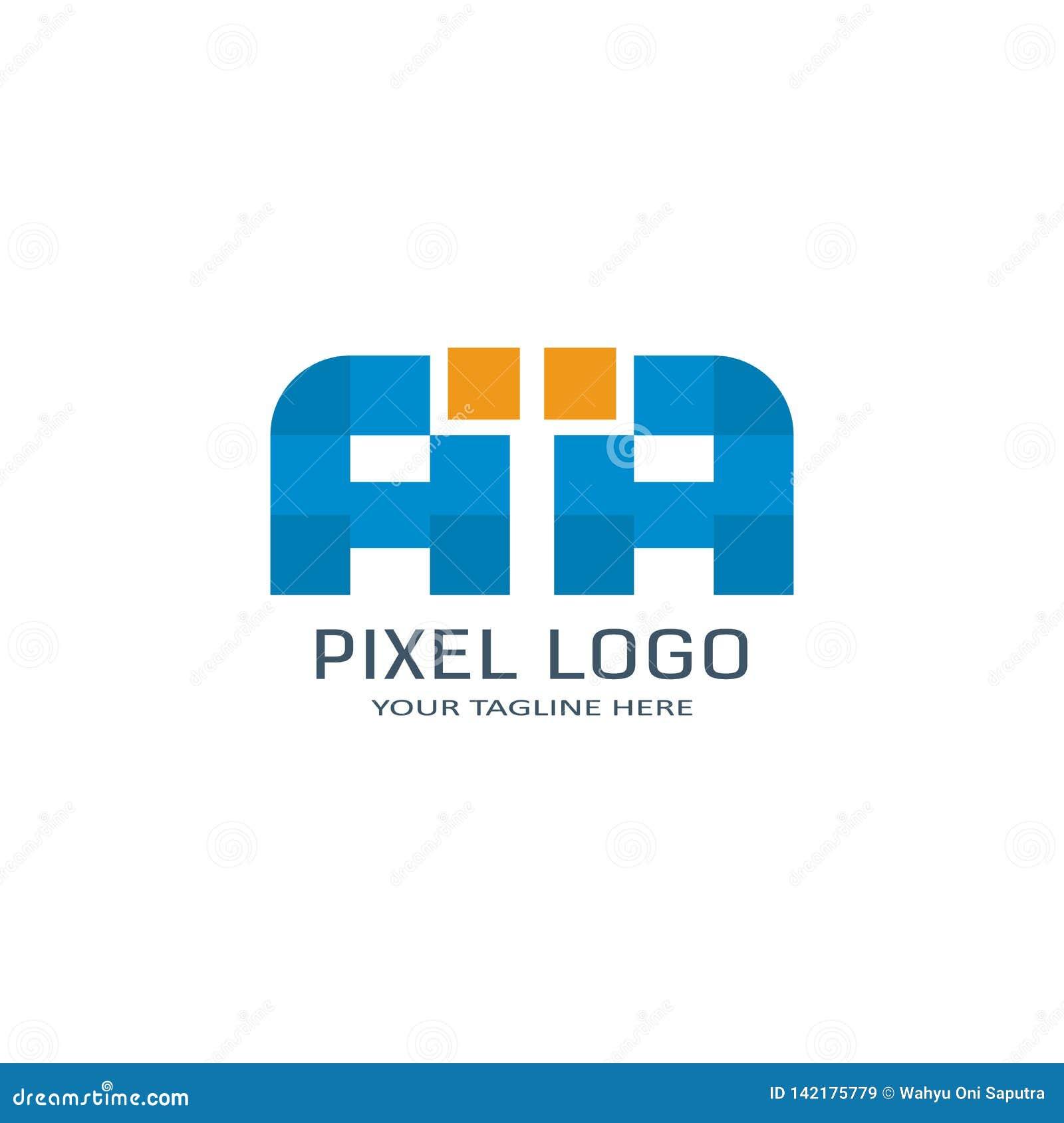 Letter Aa Pixel Logo Design Template Alphabet Pixel Motion Logo Stock Vector Illustration Of Logo Digital 142175779