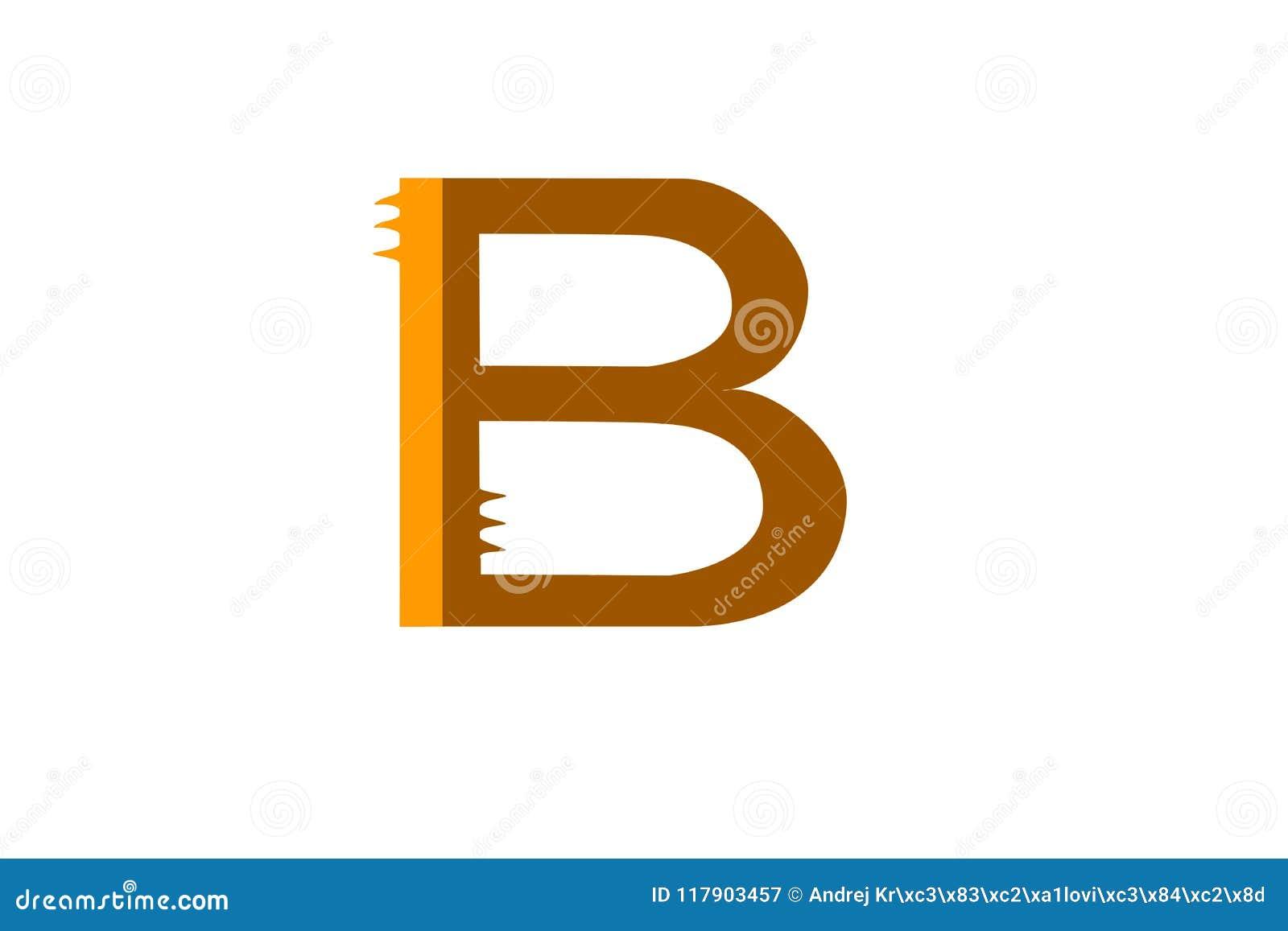 Letter Of Alphabet B Cog Design On White Backdrop Stock Vector