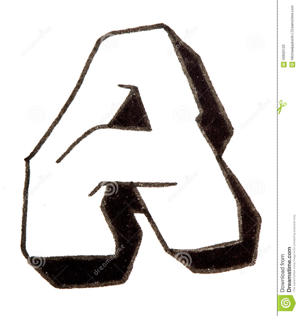 Letter a alphabet in graffiti style stock photo image - L alphabet en graffiti ...