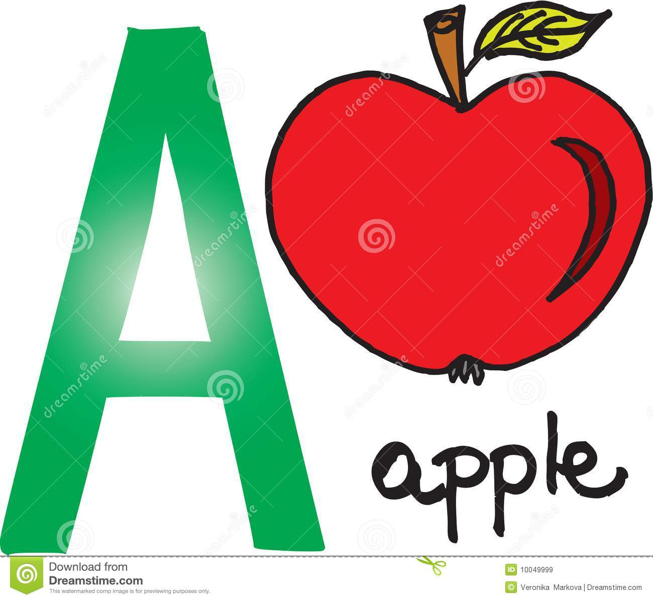 letter a apple stock vector illustration of background 10049999