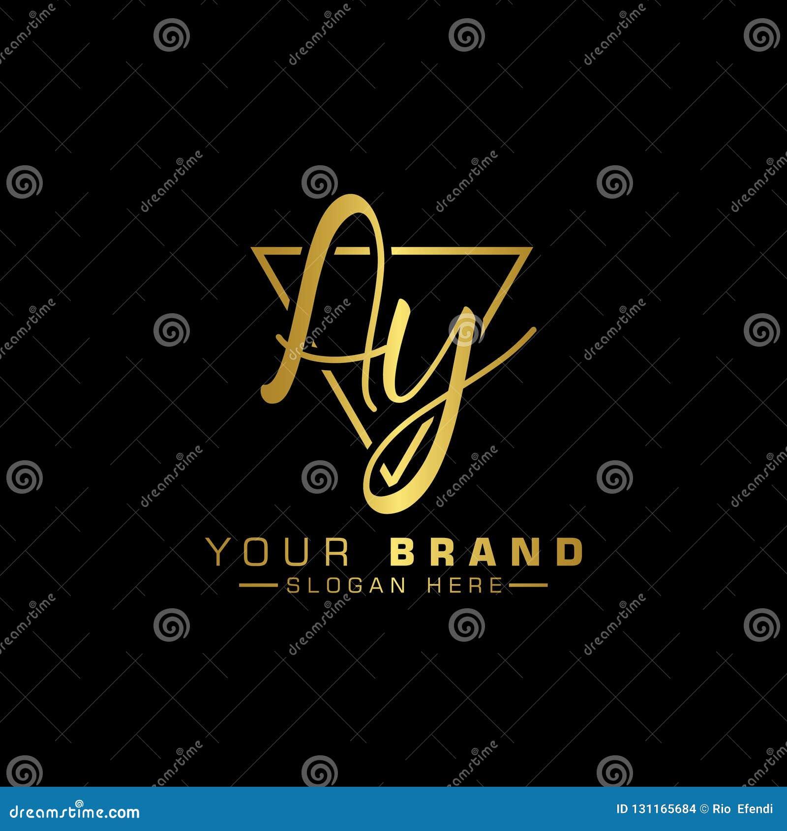 Letter Ay Logo. Initial Letter Design Vector Luxury Color Stock Vector -  Illustration of gold, design: 131165684
