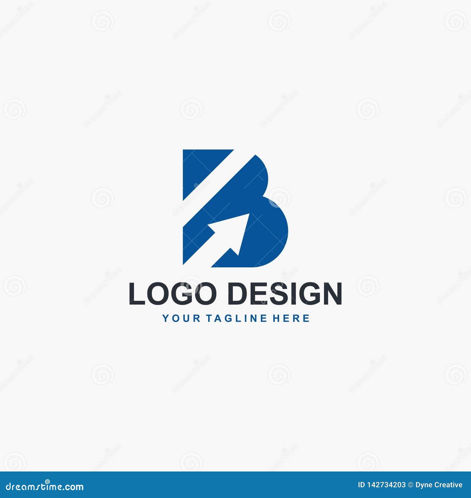 Letter B And Arrow Logo Design Vector Abstract Logo Design Type Logo For Business Stock Vector Illustration Of Alphabet Idea 142734203