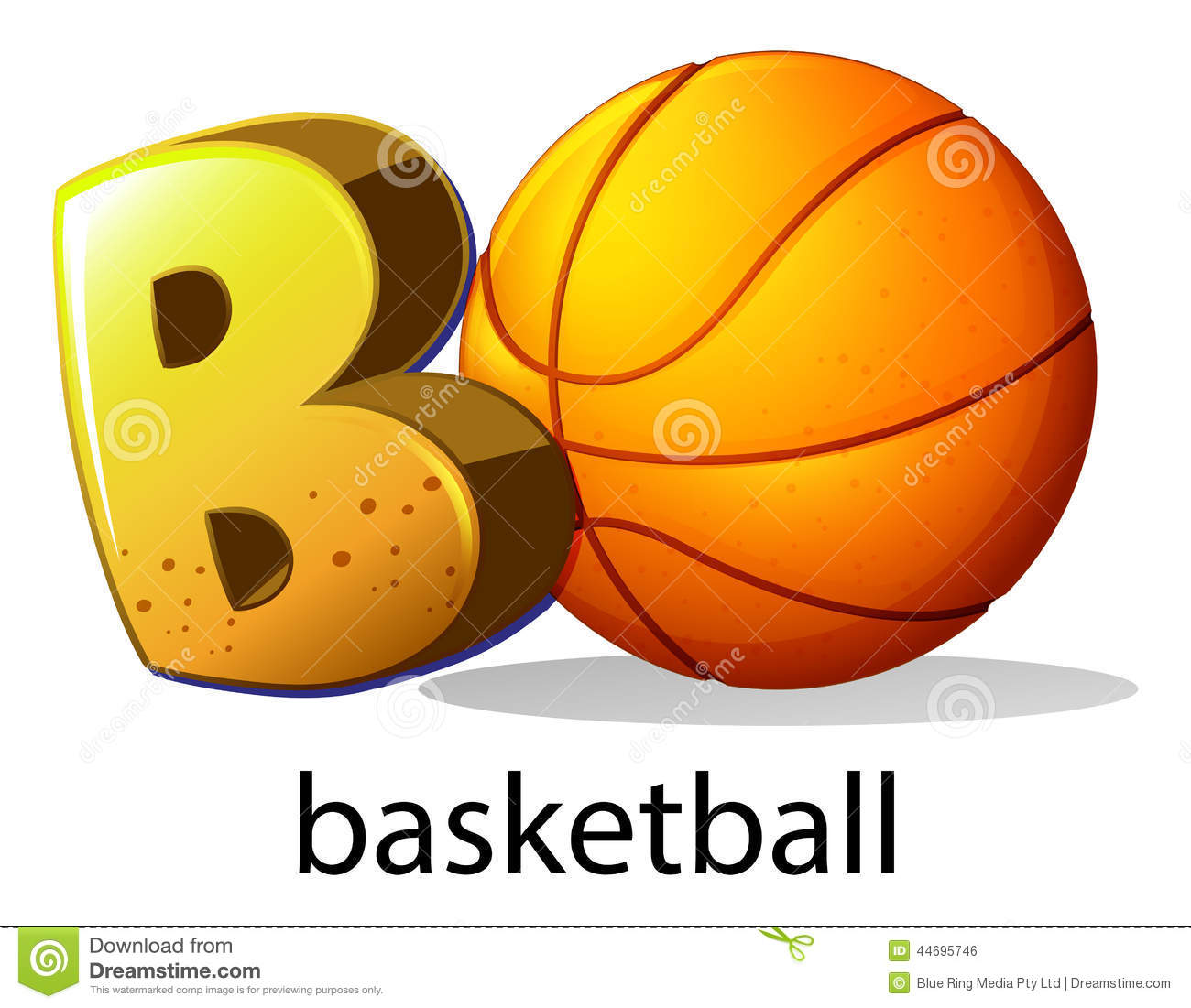 A letter b for basketball stock vector illustration of artistic a letter b for basketball biocorpaavc Choice Image