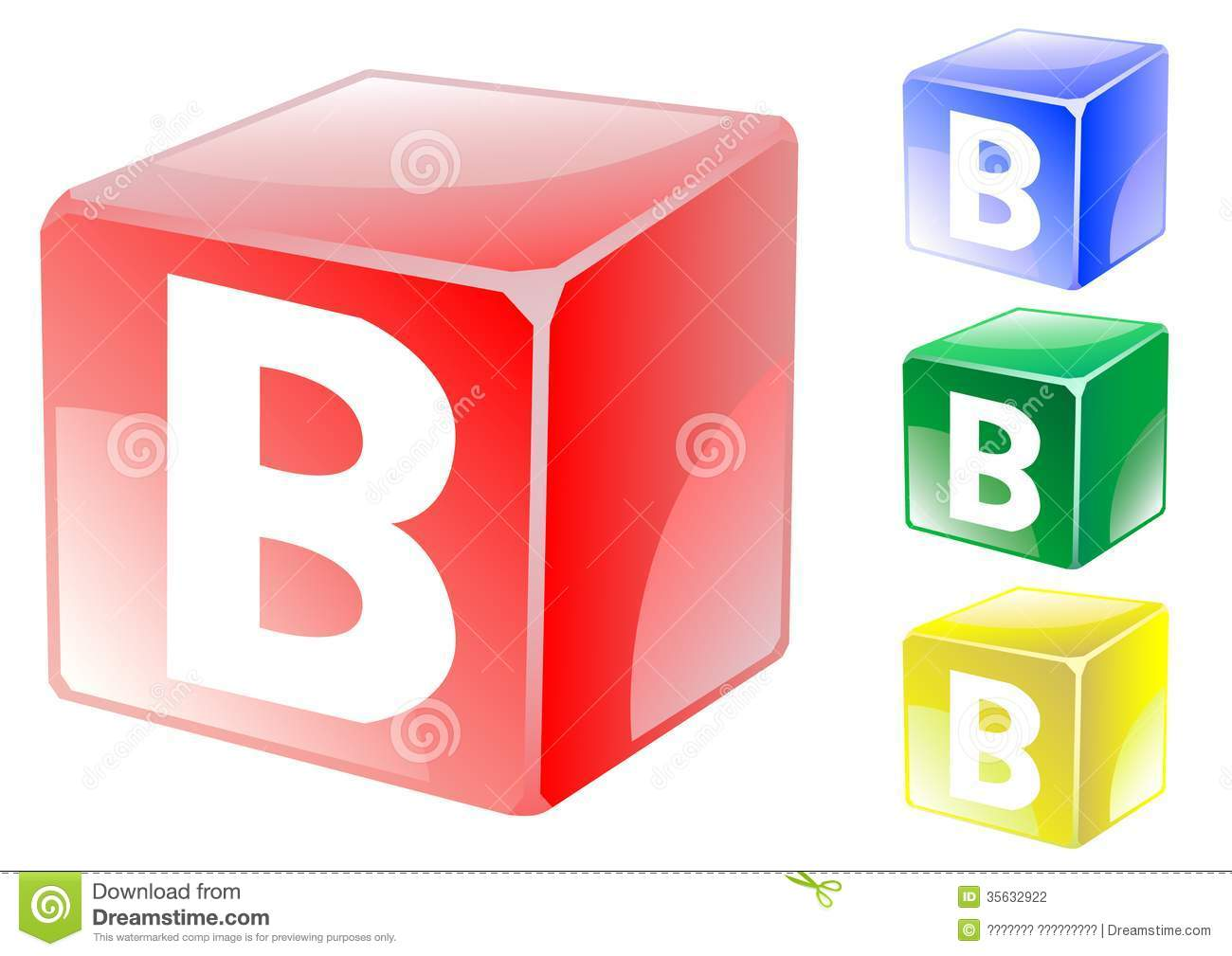 B Cube letter b in cube stock vector. illustration of square - 35632922