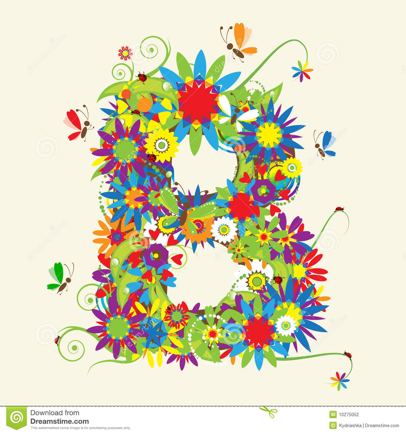 Letter R, Floral Design Royalty Free Stock Photo - Image: 10275105
