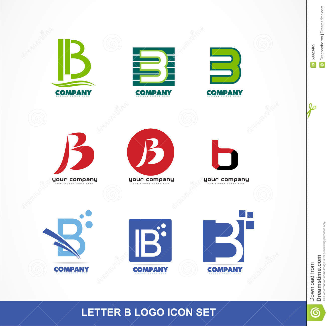 Letter B Icon Logo Set Stock Vector - Image: 59823465 - photo#35