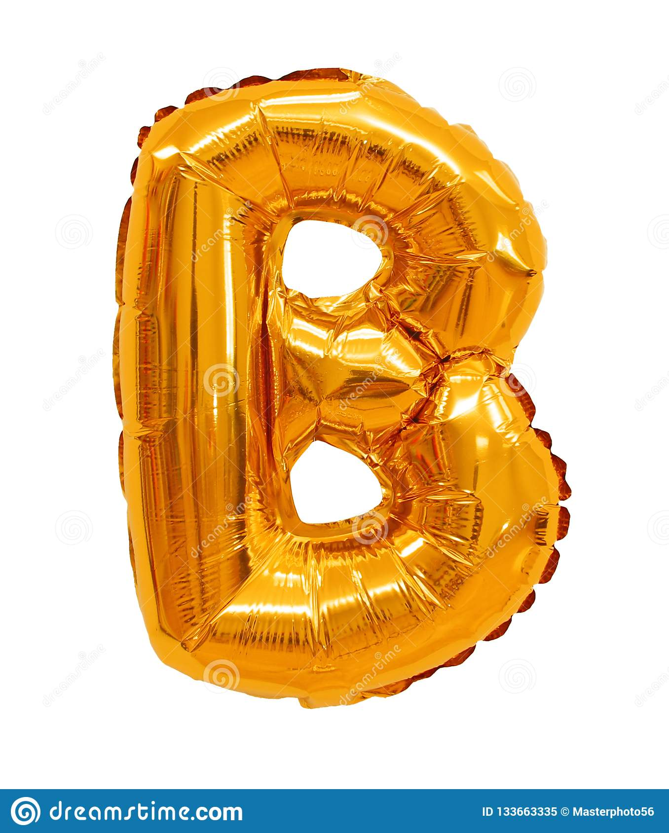 Letter B From A Balloon Orange Stock Image Image Of Symbol