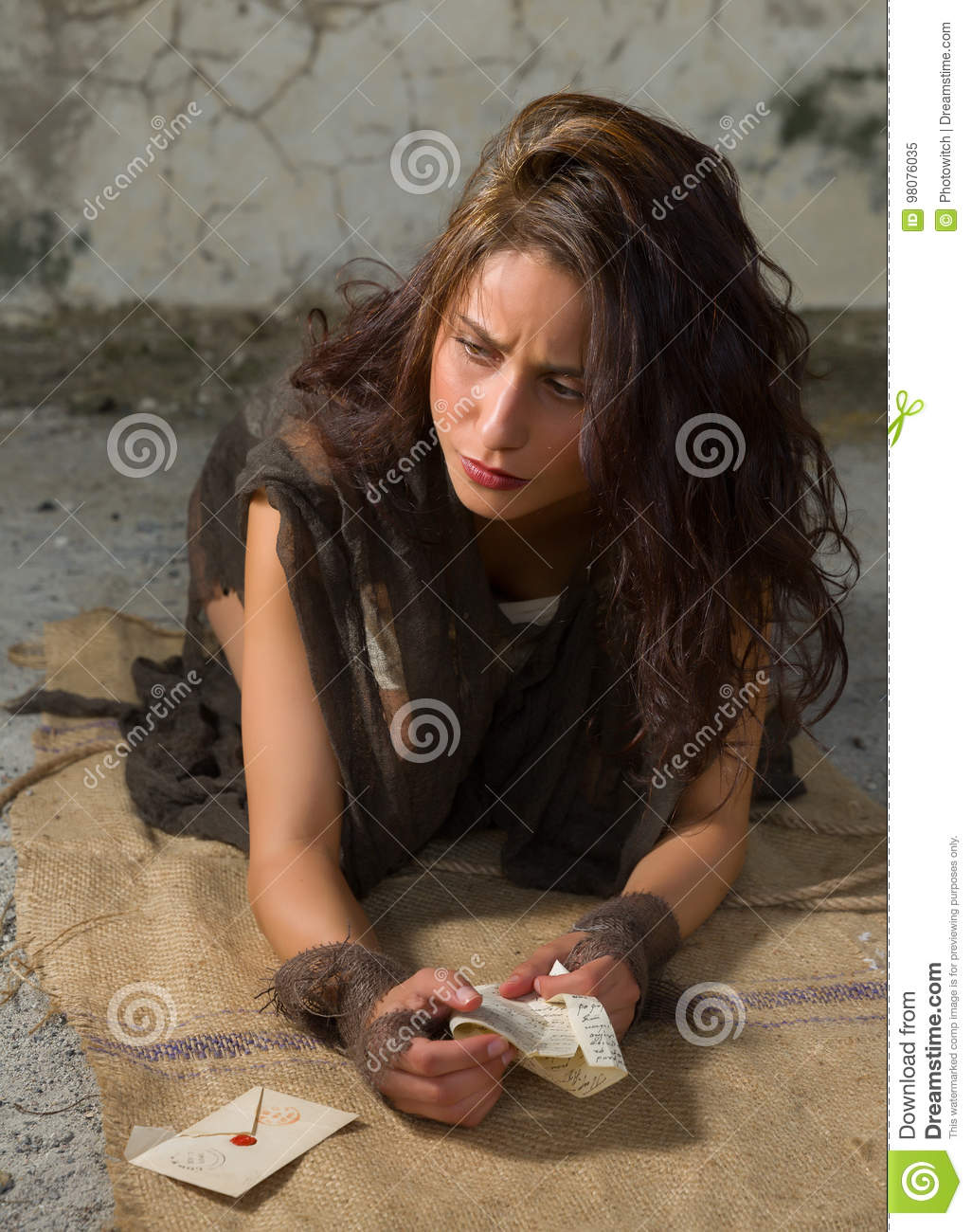 Letter With Bad News Stock Image Image Of Floor Sadness