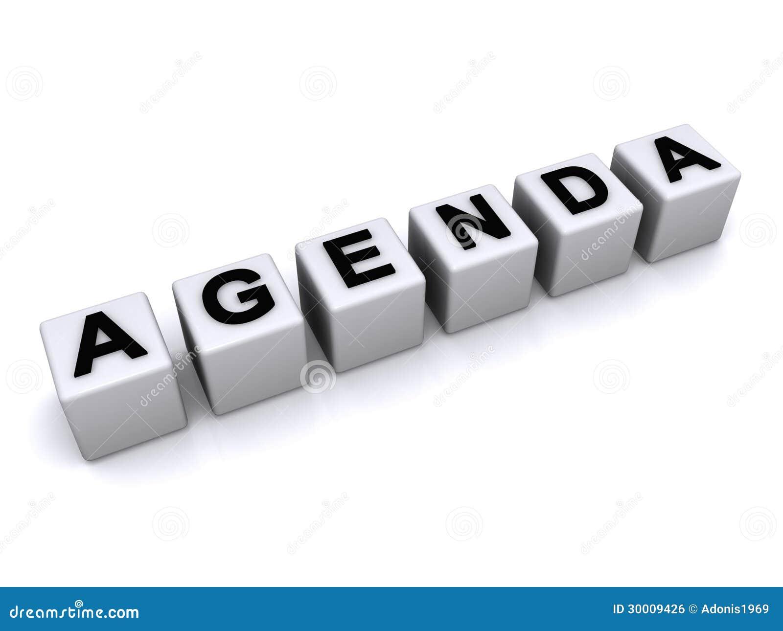 Agenda Letter Blocks Royalty Free Image Image 30009426 – Agenda Word