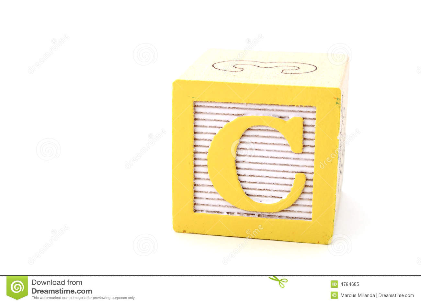 Diagram Letter C Royalty Free Stock Photo