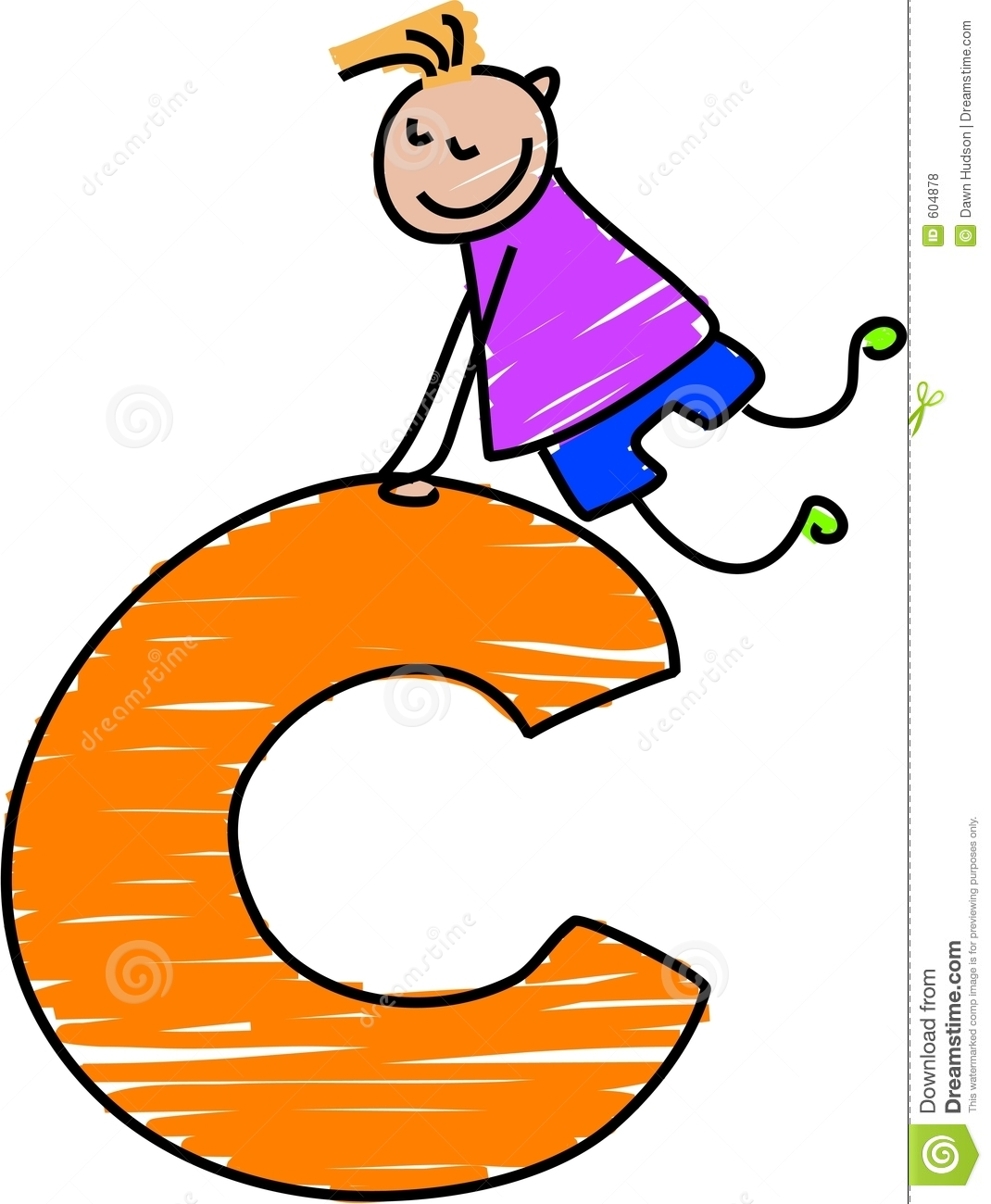 Letter C Boy Royalty Free Stock Photos - Image: 604878