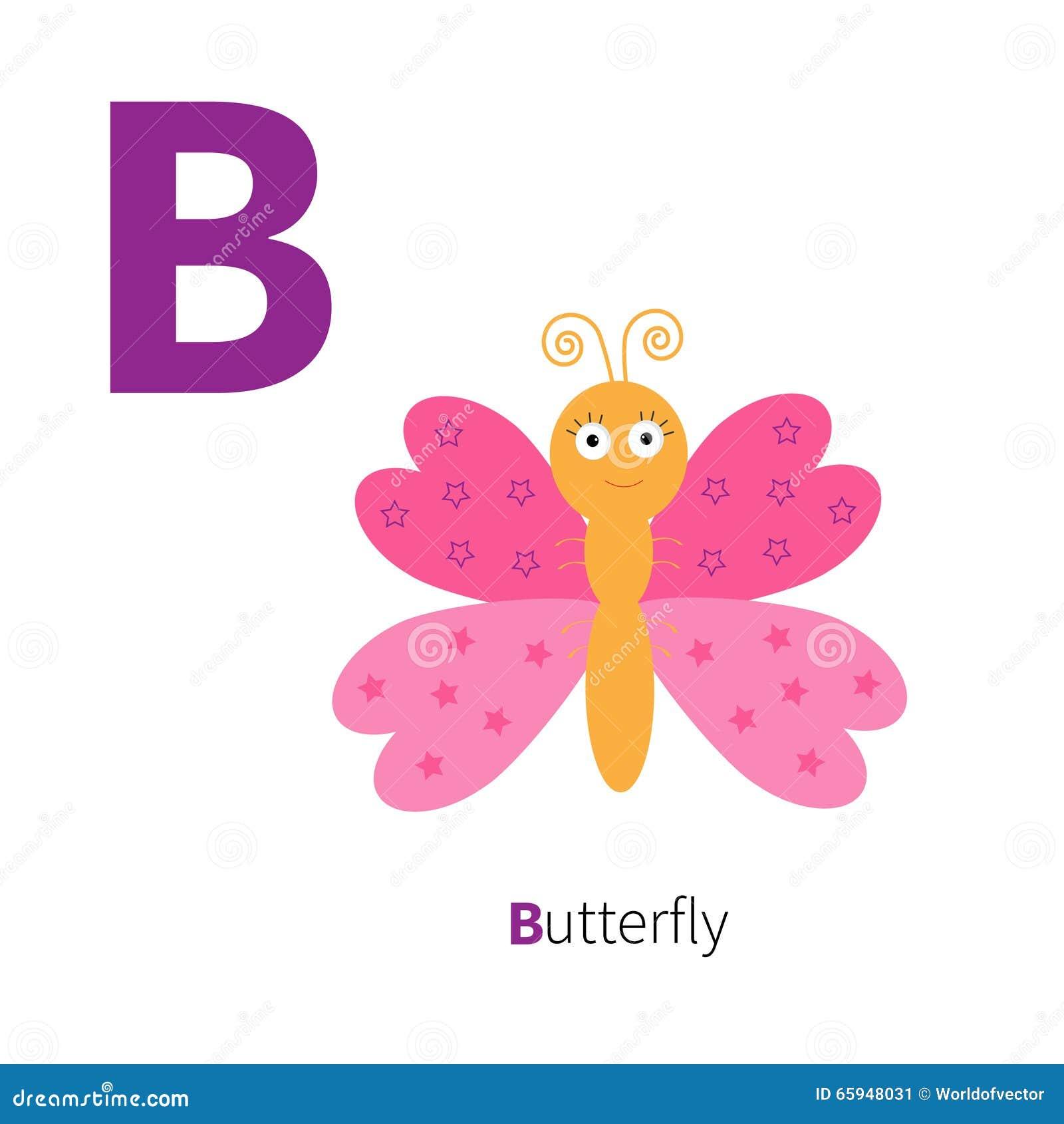 Illustration Alphabet Letter B-butterfly Stock Vector - Illustration ...