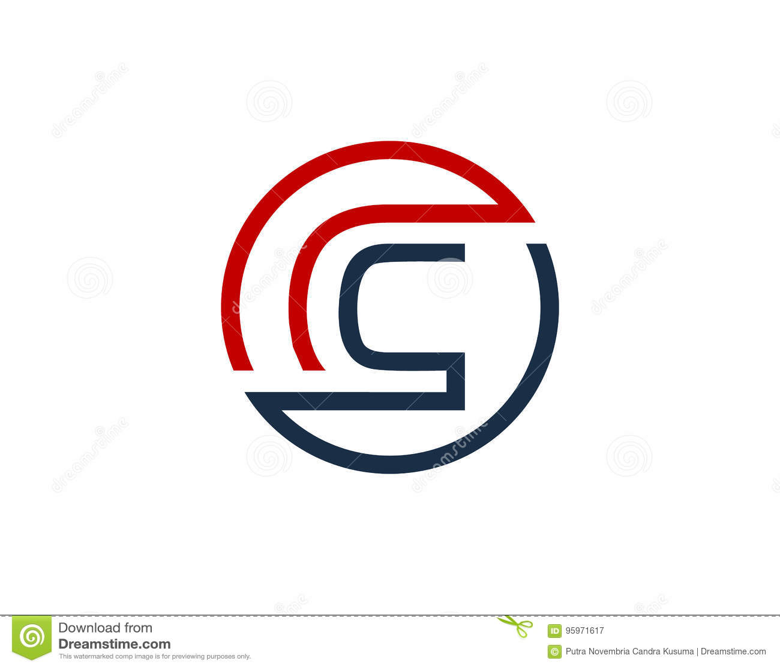 Letter c circle line icon logo design element stock vector letter c circle line icon logo design element biocorpaavc Images