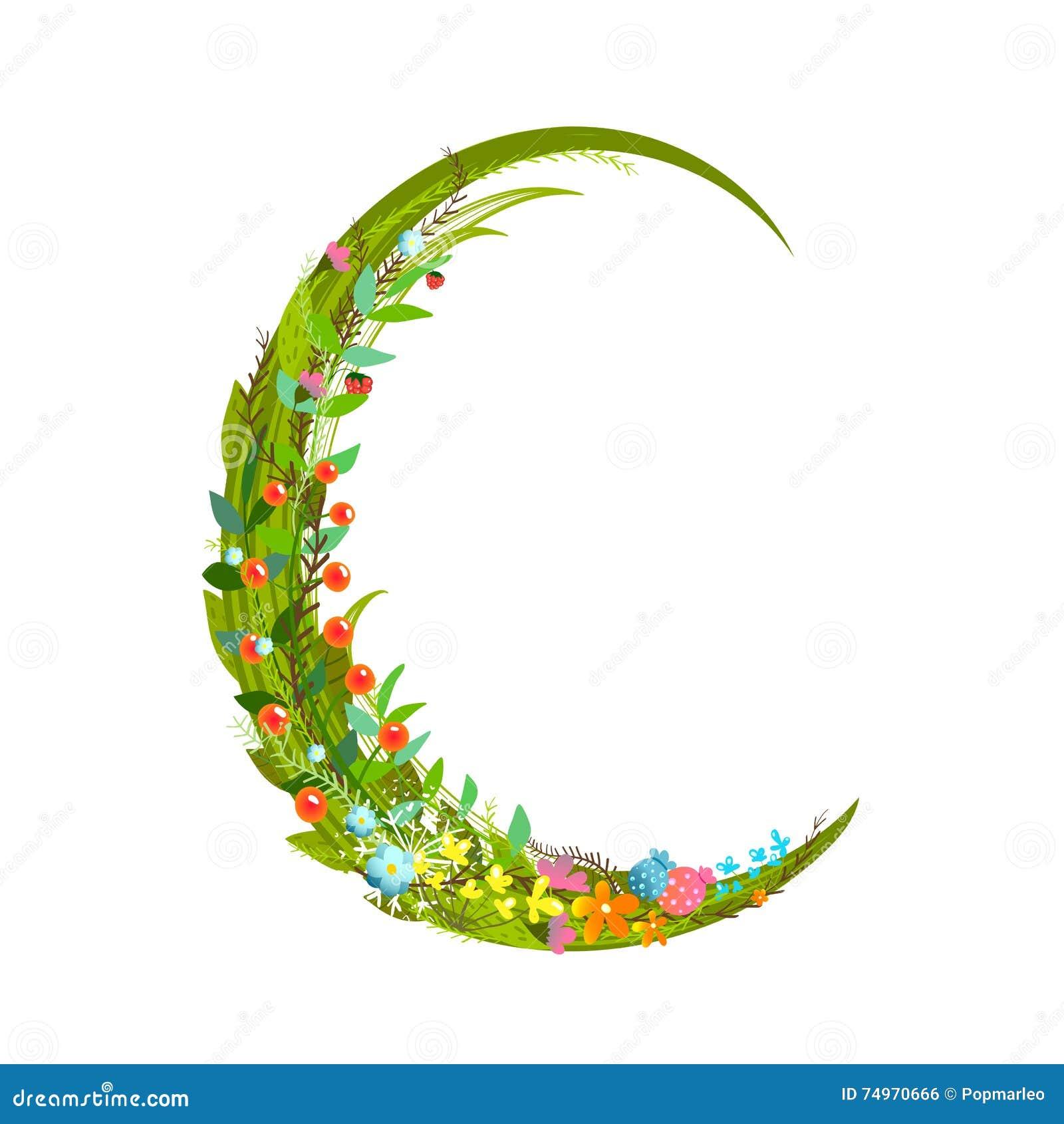 letter c floral latin decorative character alphabet lettering sign stock vector image 74970666. Black Bedroom Furniture Sets. Home Design Ideas